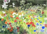 Tutti Frutti Garden 80 x 110cm, watercolour on paper, framed selling price £3,500 SOLD