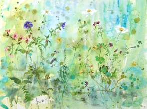 Summer Rain, 55 x 75cm, watercolour on paper, framed price £1,850