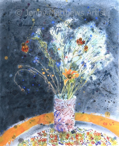 Catching the Light, 65 x 55cm, watercolour on paper, framed price £1,850 SOLD