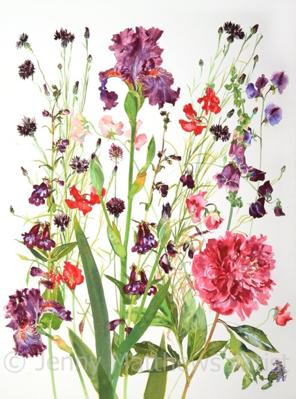 Only Pink and Purple, 75 x 55cm, watercolour on paper, unframed price £1,850