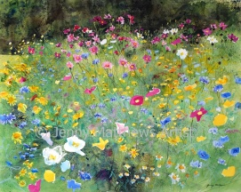 At the Park, 80 x 100cm, watercolour on paper, framed price £3,500 SOLD