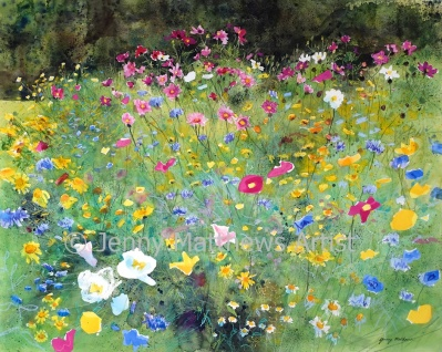 At the Park, 80 x 100cm, watercolour on paper, framed price £3,500