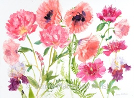 Chiffon Petals, 55 x 75cm, watercolour on paper, framed price £2,100 SOLD