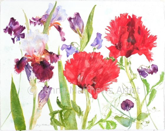 Favourites, 40 x 50cm, watercolour on paper, framed price £1,250 SOLD