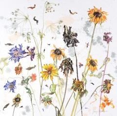 Summer Fragments, 50 x 50cm, watercolour on paper, framed price £1,450 SOLD