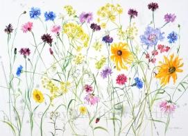 Late Summer Garden, 56 x 76cm, watercolour on paper, framed price £1,850