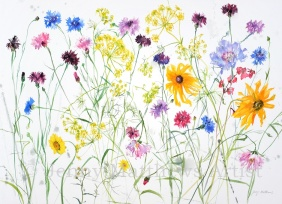 Late Summer Garden, 56 x 76cm, watercolour on paper, framed price £1,850