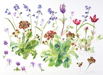 Springtime, 56 x 76cm, watercolour on paper, framed price £1,850