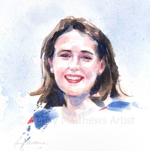 Dr. Moira Pain graduated from Dundee University School of Medicine in June 2019 and currently works at Perth Royal Infirmary. 35 x 35cm, watercolour on paper.